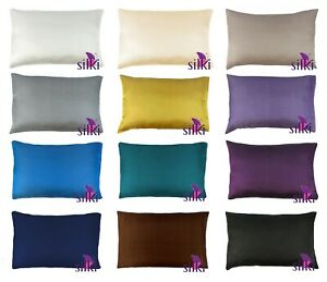 100-PURE-MULBERRY-25-momme-Silk-2-sides-Pillow-case-cover-QUEEN-w-Hidden-zip