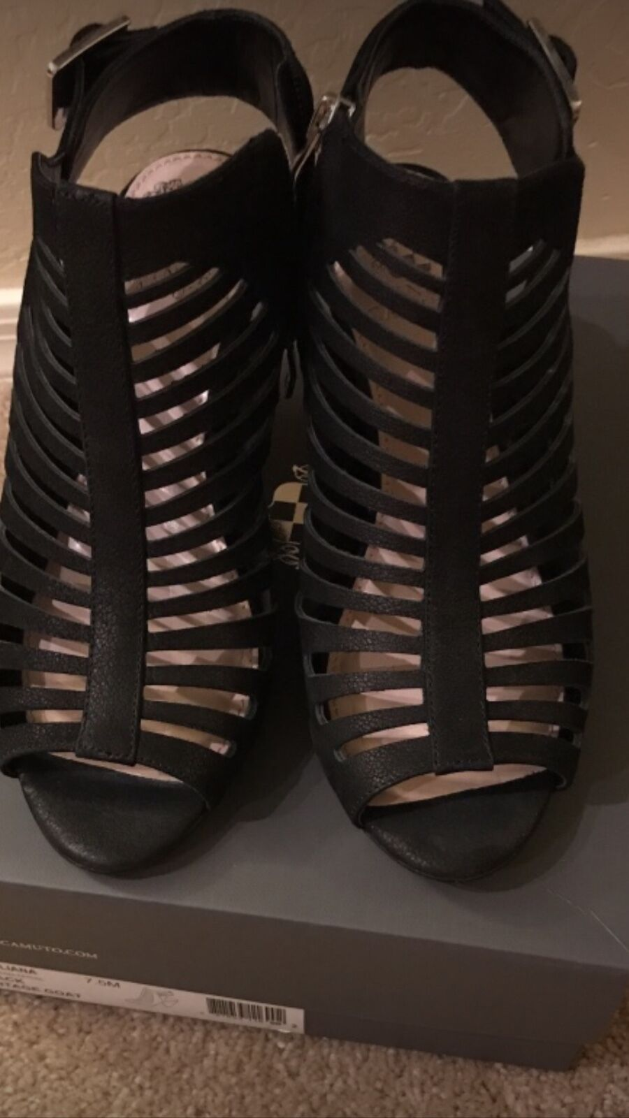 Womens shoes black strappy heels