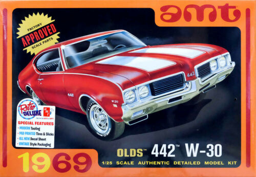 1969 Oldsmobile Olds 442 W-30 1:25 AMT Model Kit Bausatz AMT1105