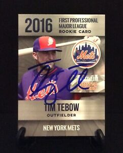Details About Tim Tebow Autographed Card