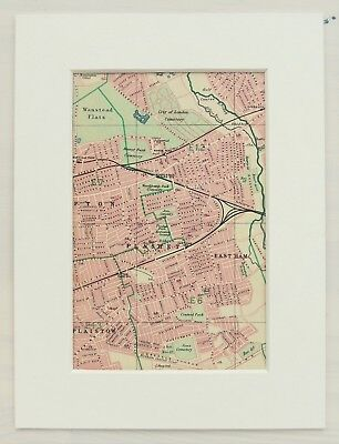 East Ham Barking Plaistow Beckton Cyprus Plashet Upton Park 1921 map LONDON E