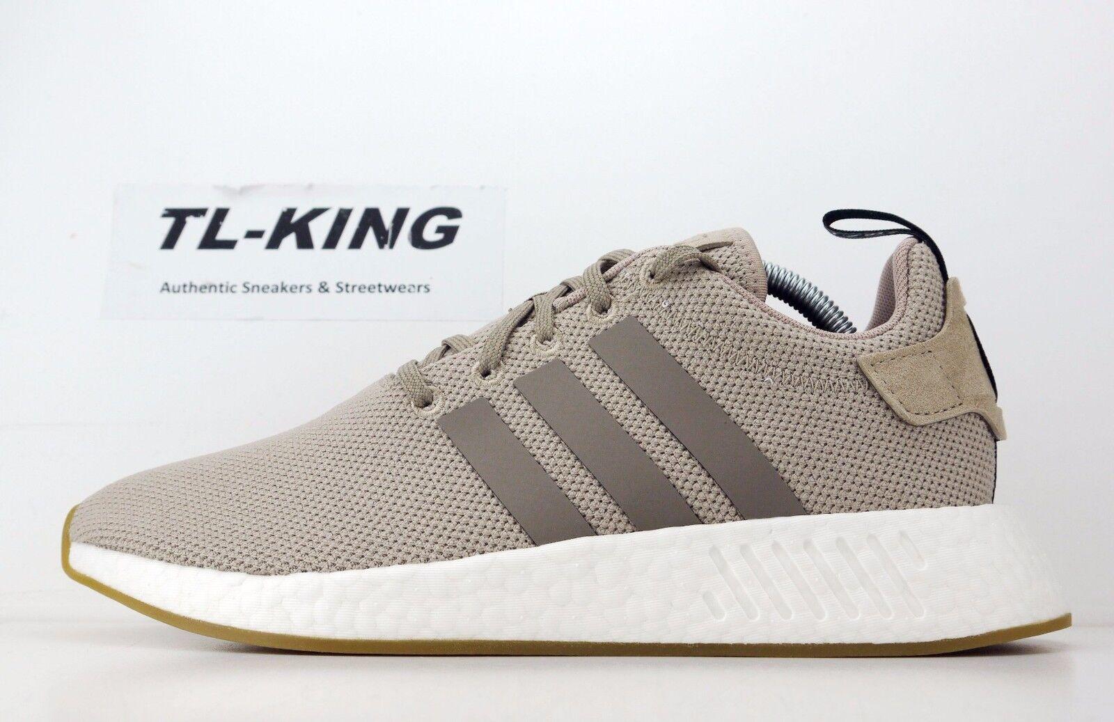 Adidas originali nmd r2 impulso traccia cachi marrone marrone marrone bianco nero by9916 msrp 130 dollari hu fc48a1