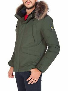 premium selection 391d5 3b08e Details about CIESSE DOWN JACKETS JERALD SHORT PARKA MEN'S JACKET CGM073  FUR GREEN