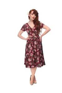 0c3e18a0b7a7 Image is loading COLLECTIF-VINTAGE-MARIA-SWING-DRESS-8-18-1950S-