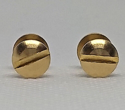 2 Brass Chicago Screws 1//4/""