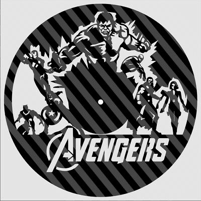 DXF CDR File For CNC Plasma Laser Cut - Avengers Clock B  Ready to cut |  eBay