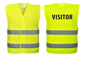 Portwest C405 PROTETTIVA Visitor Hi Vis Gilè PROTETTIVA C405 abbigliamento da lavoro 2291ee