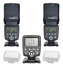 Yongnuo YN560TX LCD Wireless Flash Controller 2pcs YN560 IV Flash kit For Nikon