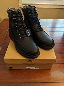 NEW Men's Sperry Watertown Boots, Black