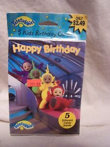 Image Is Loading 5 Vintage Retro Teletubbies Birthday Cards New Unopened