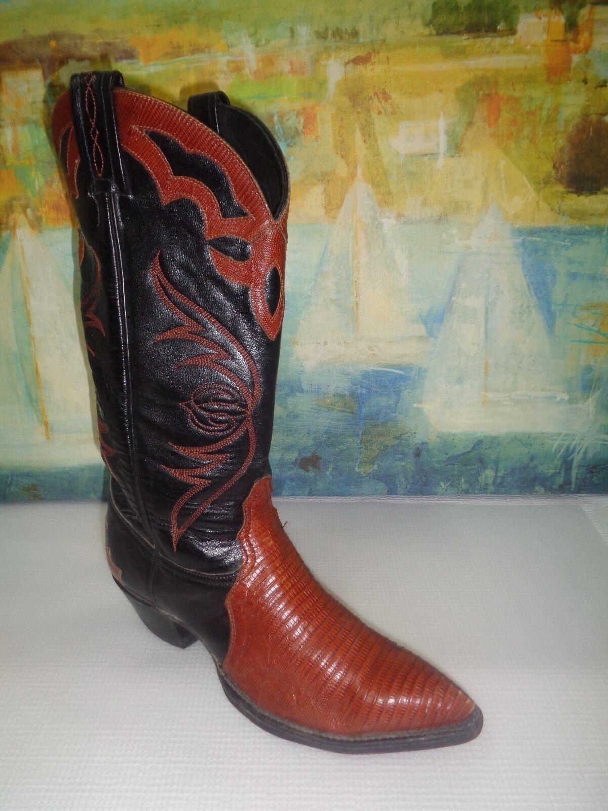 rivenditori online TONY LAMA L1225 USED USED USED donna 7 M LEATHER WESTERN COWBOY stivali  la migliore selezione di