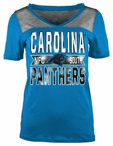 66beb736f4 Carolina Panthers T-Shirt Women s NFL Short Sleeve Crossover ...
