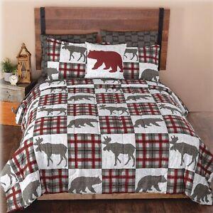Alaskan Wildlife Collection Complete Bed Set Seven Piece Queen Size