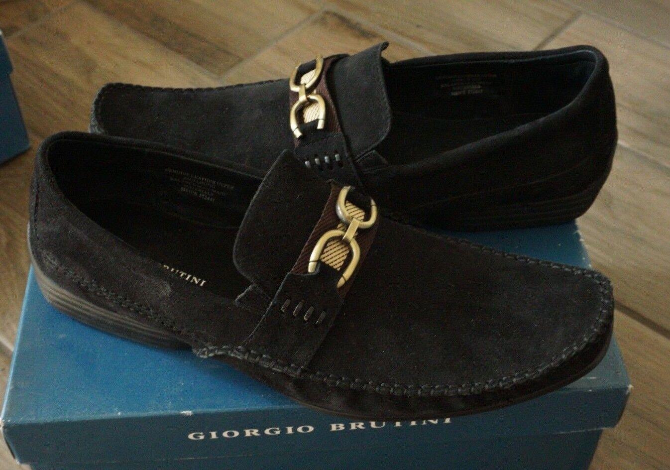 Giorgio Brutini 229547 Veloursleder Schwarz Gr. 13 M Kleid Schuhe