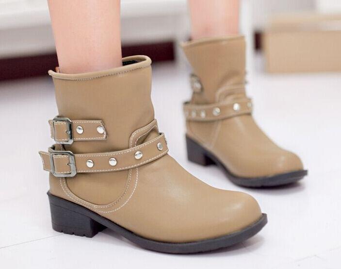 botas mujer botas cómodo botas militares mujer botas talón 4 cm beige 8798 a35e28