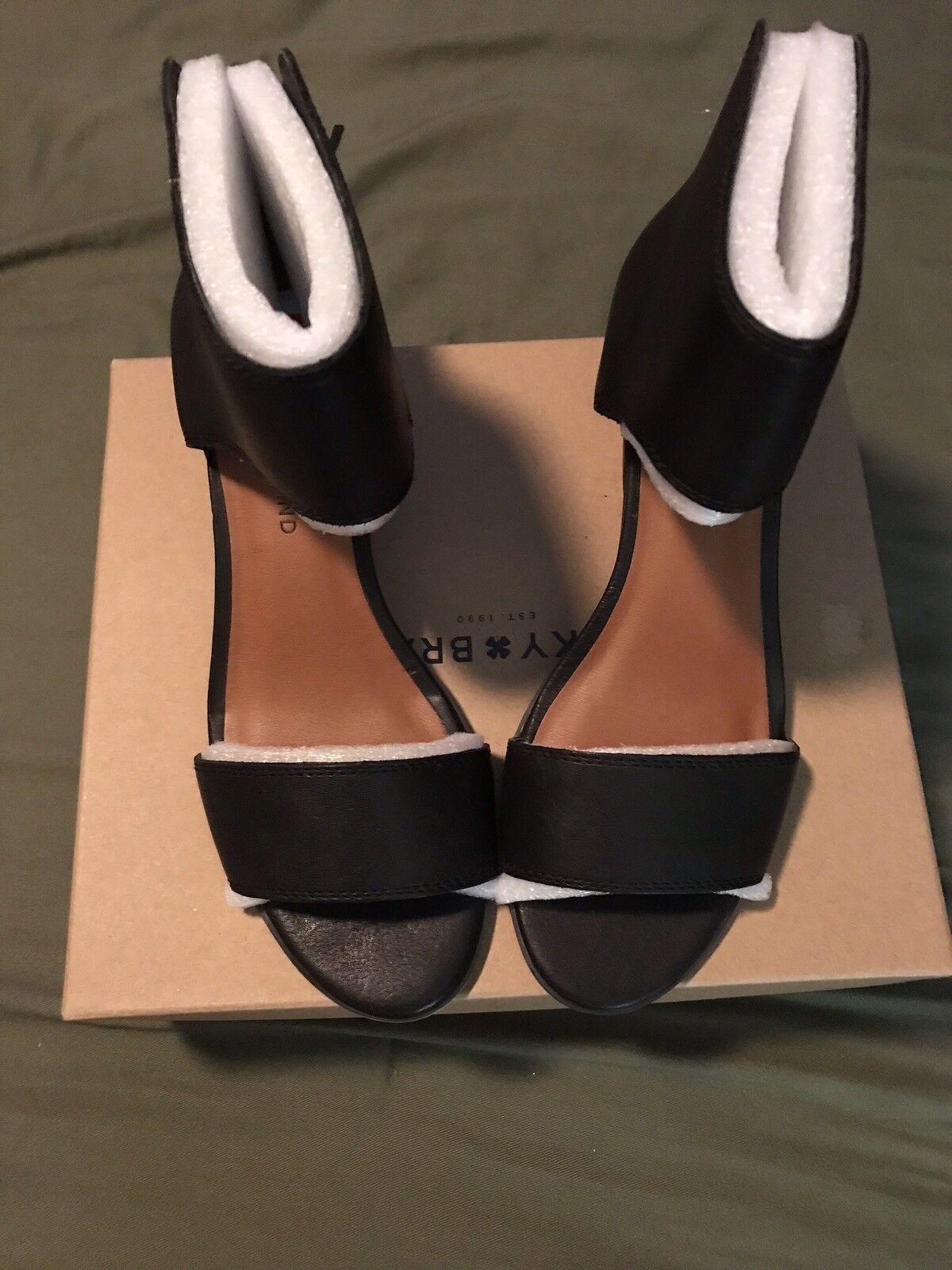 Lucky Brand nero Leather Sandals - Sz Sz Sz 8   38 - New in Box 7097bb