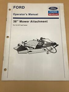 NEW-HOLLAND-Ford-38-Inch-Mower-Attach-for-12-5-OPERATORS-MANUAL-Owners-Book