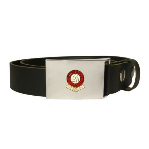 Walsall football club leather snap fit belt