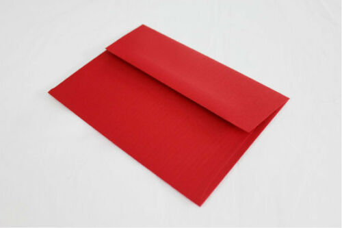 Holiday Red Discount Envelopes - Low Priced - A7 Size - 1,000 Count