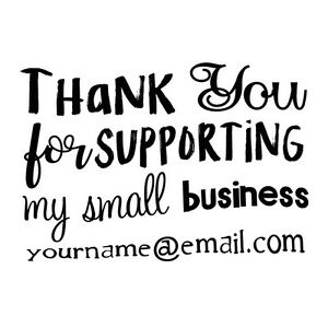 custom name thank you for supporting our small business self inking