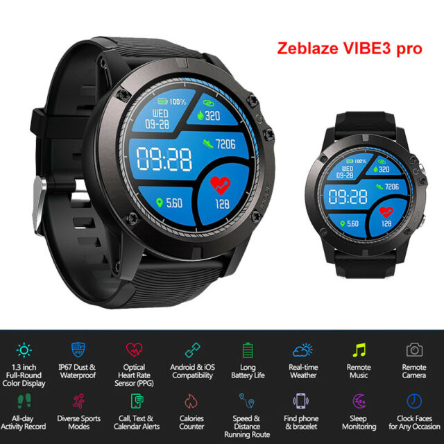 Zeblaze Vibe 3 Pro Smartwatch Tracking Stopwatch Heart Rate For Ios