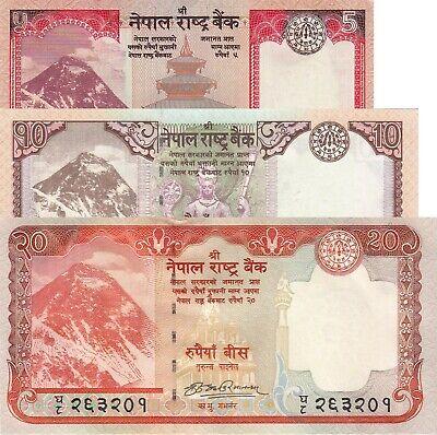 with Mt Nepal P-61  2008  10 Rupees Everest-Crisp UNC