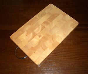 Dettagli su Legno Tagliere da Cucina Set di 2 Dulcimer Martellato Massiccio  con Maniglia