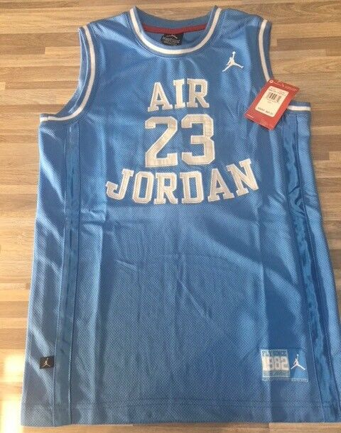 1e7f719b1f3 Nike Air Jordan 23 Basketball Jersey Youth Size Large Carolina Blue 959947  for sale online | eBay