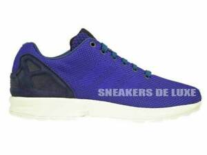 best sneakers 15e09 61548 Image is loading B34471-adidas-ZX-FLUX-WEAVE-DARK-BLUE-NIGHT-