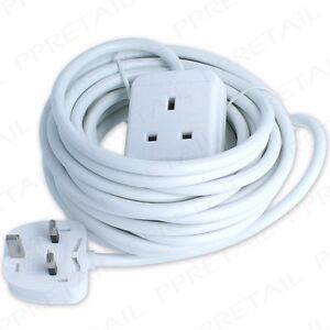 Image Is Loading EXTRA LONG 10M EXTENSION LEAD 1 GANG Cable