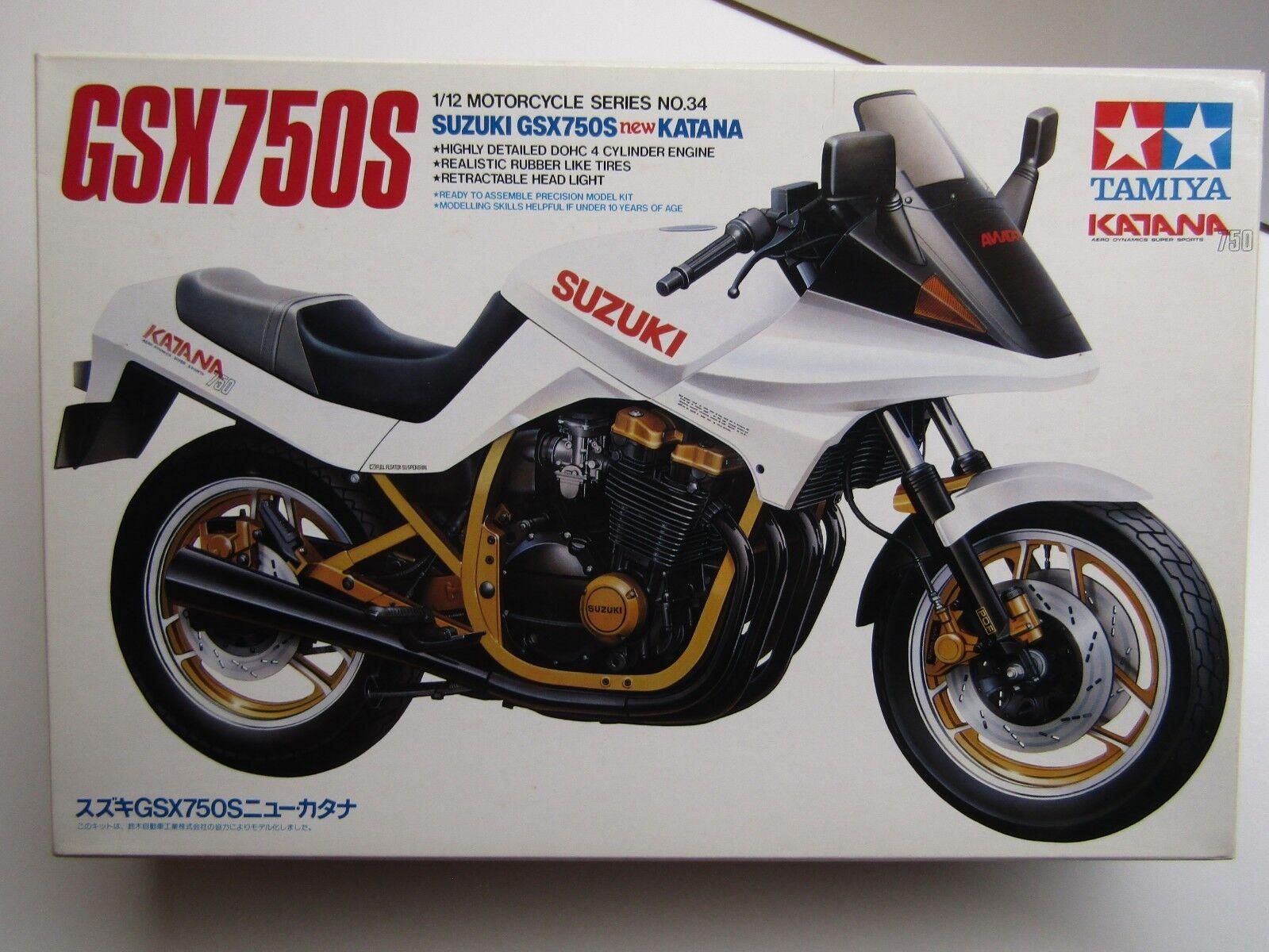 Tamiya 1 12 Scale Suzuki GSX750S New Katana Model Kit - New - Kit 900