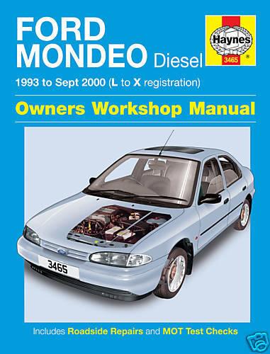 Haynes Ford Mondeo Diesel 1993-2000 Manual NEW 3465