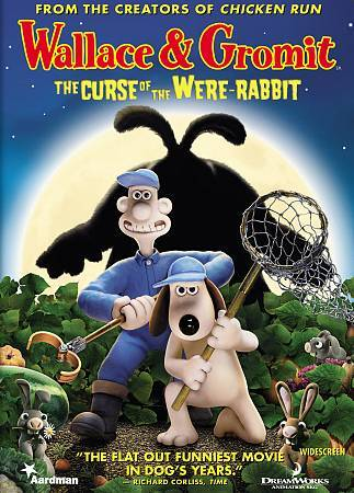 Wallace Gromit The Curse Of The Were-Rabbit DVD, 2006, Widescreen  - $6.50