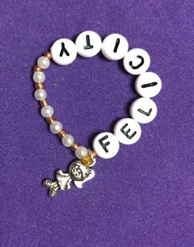 """New Elastic Bracelet With1 charm Fits American Girl Doll /""""Felicity./"""""""