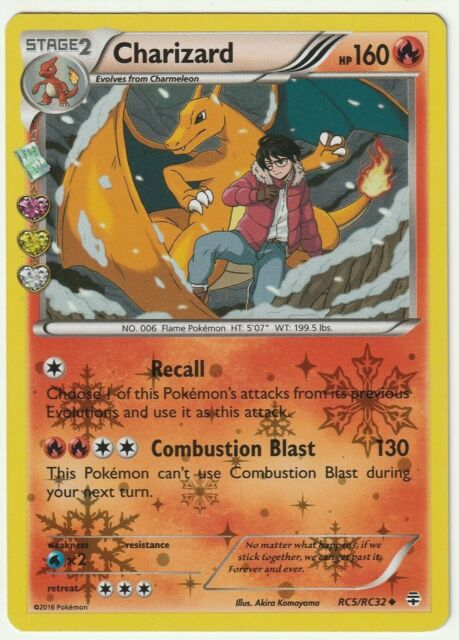 LP Pokemon CHARIZARD Card GENERATIONS Set RC5//RC32 Radiant Collection Holo Promo