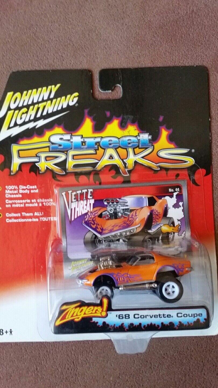 Johnny Lightning Lightning Lightning White Lightning Zinger Street Freaks '68 Corvette Vette Threat fcd235