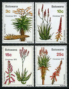 Botswana-143-146-MNH-Aloe-flowering-plants-used-for-pharmaceutical-purposes-1975