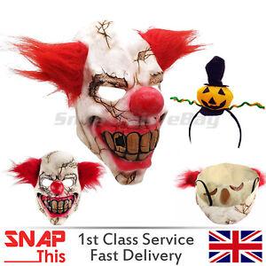PAYASO-SINIESTRO-Mascara-de-latex-IT-PELO-NARIZ-Cosplay-Cara-Horror-Adulto