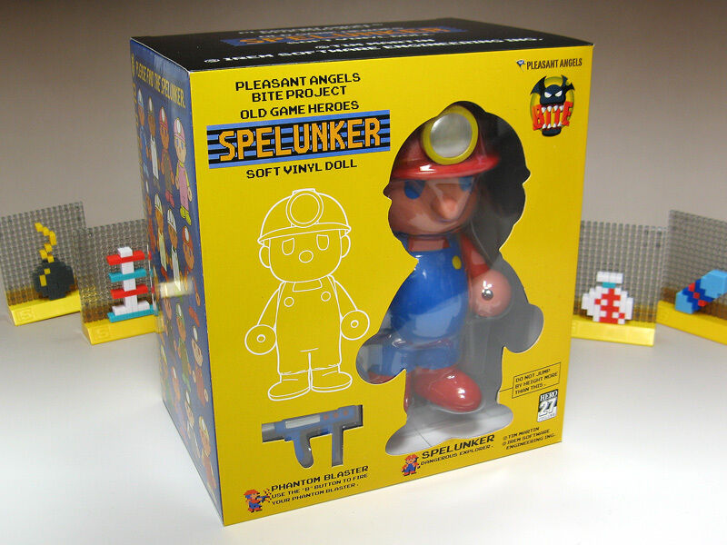 Spelunker Dangerous Hero Sofubi Toy Toy Toy (2008) New Factory Boxed Japan Import Toy f834f2