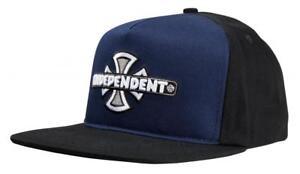 bc082adaf Details about INDEPENDENT TRUCKS - Vintage Cross Cap - Navy/Black  Skateboard Hat, Skate Cap
