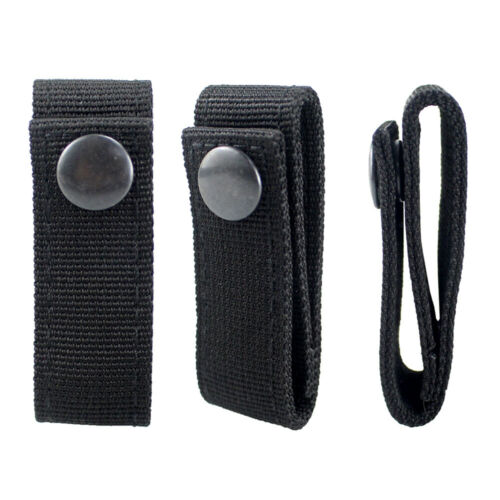 """Nylon Handcuff Strap Holder Single Snap Slide-On Fit Up to 2.25/"""" in Duty Belts"""