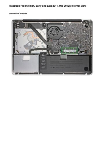 MacBook Pro 13-inch Early and Late 2011 Mid 2012 Service Guide to Repairing