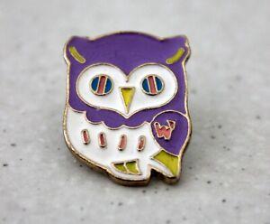 Enamel-Cute-Purple-Owl-Bird-Brooch-Backpack-Pin-Girls-Animal-Lovers-Jewellery