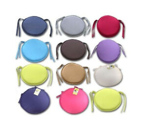 New Luxury Removable Tie On Chair Seat Cushion Pads Garden Cushions Thick 1//2//4