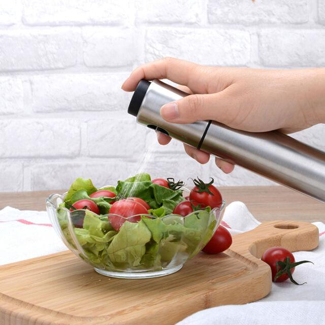 Edelstahl Olive Pumpspray Fein Flasche Öl-Sprüher Pot Cooking Werkzeug BBQ T6E5