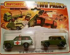 Matchbox Two Pack 12 Military Police and Field Car 1975