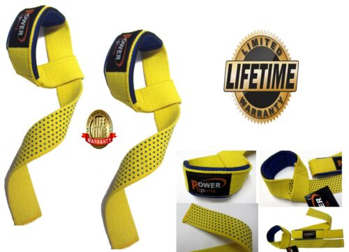 BAR Straps 'STEALTH' Non Slip Gel Padded Weight Lifting Straps For MenWomen