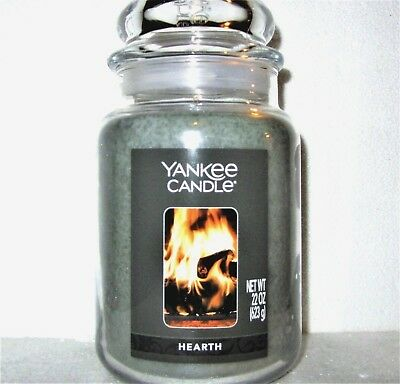 Yankee Candle  HEARTH 22 oz New Label. 1 Single   22 oz  Free Shipping!