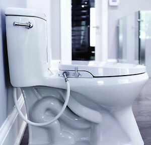 Geniebidet Elongated Toilet Bidet Seat Non Electric