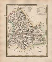 1816 COUNTY MAP G COLE & J ROPER : BRECKNOCKSHIRE